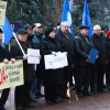 Trade unionists picketed the parliament building, demanding a fair and sustainable pension system reform, guaranteeing a decent pension to beneficiaries